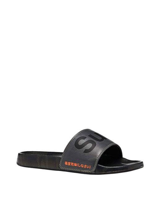 Printed Beach Sliders 40-41 EU Camo Superdry pour homme en coloris Black