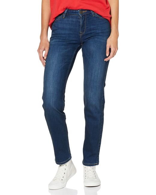 Marion Straight' Jeans Donna di Lee Jeans in Blue