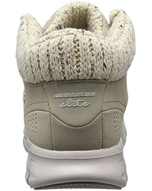 Skechers Denim Synergy Winter Nights Ankle Boots in Gray Lyst