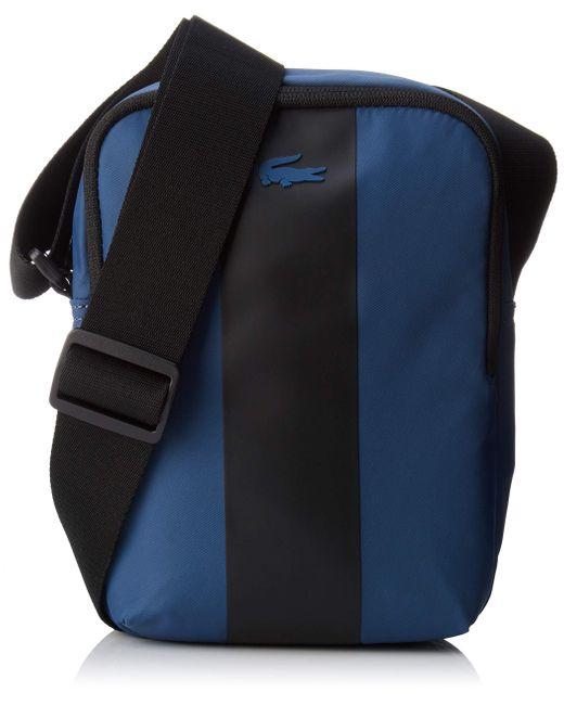 Homme Nh2664tk Sac porte epaule Bleu Lacoste pour homme en coloris Blue