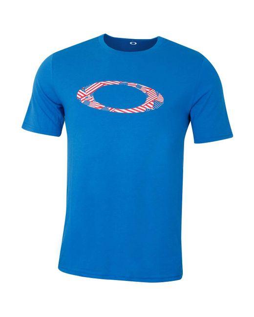 Oakley Ellipse USA Pattern Tee T-Shirt in Blue für Herren