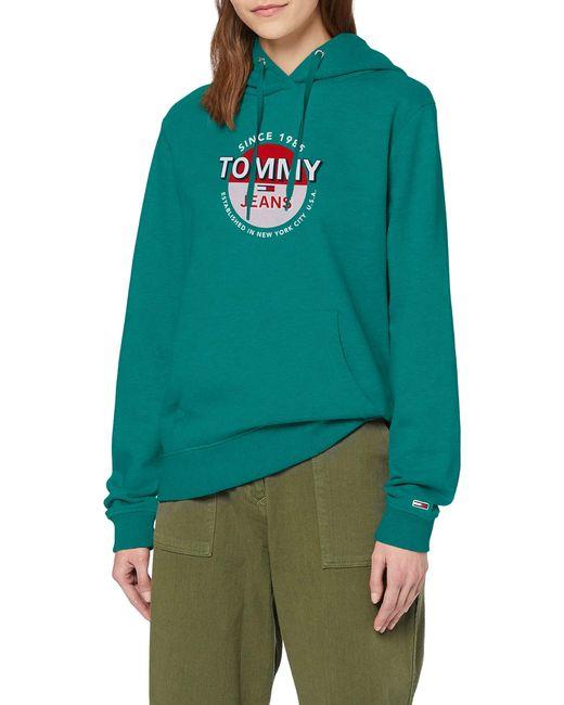 TJW Essential Logo Hoodie Suter Tommy Hilfiger de color Green