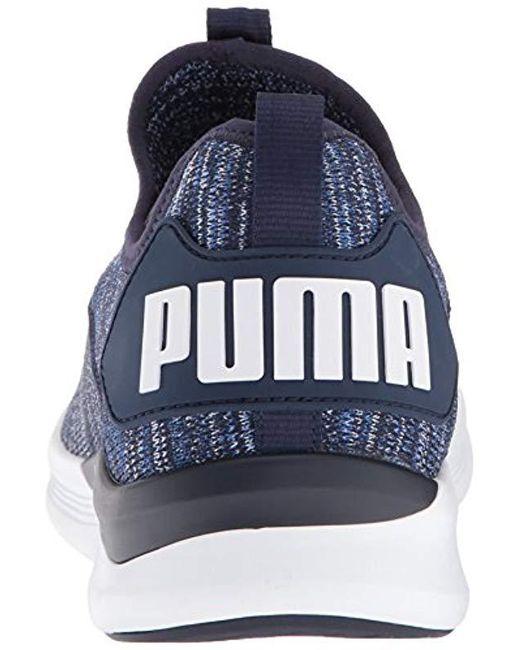 brand new 45f2b 1100e Men's Blue Ignite Flash Evoknit Sneaker