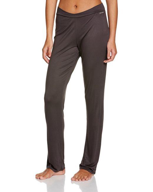 Perfectly FIT-Long PJ Pant Pantalón de Pijama Calvin Klein de color Brown