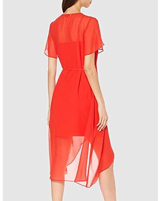 d0f889b627e4 ... Tommy Hilfiger - Red Tjw Wrap Dress - Lyst