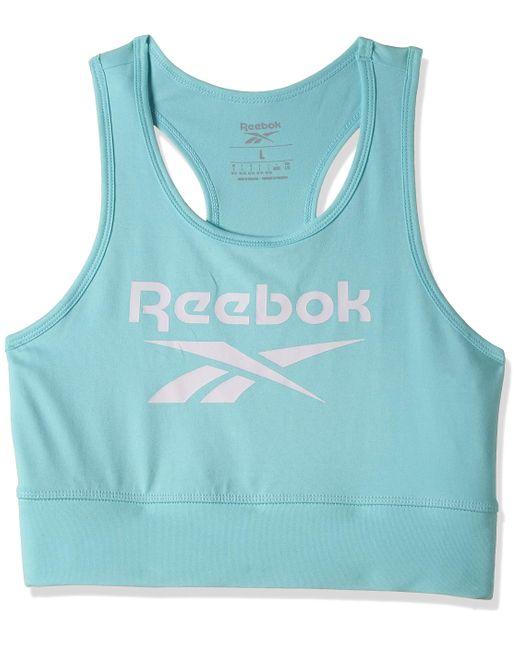RI Bl Cotton Bralette Reggiseno Sportivo di Reebok in Blue