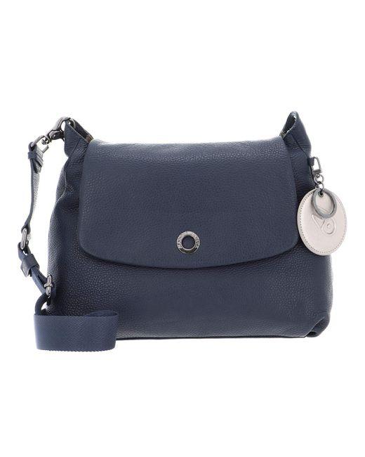 Mellow Leather Crossover Bag Dress Blue di Mandarina Duck