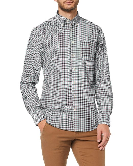 Gant Red The Bc 3 Col Gingham Reg Bd Casual Shirt for men