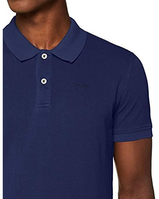 20c53231 ... Pepe Jeans - Blue Rotten Polo Shirt for Men - Lyst