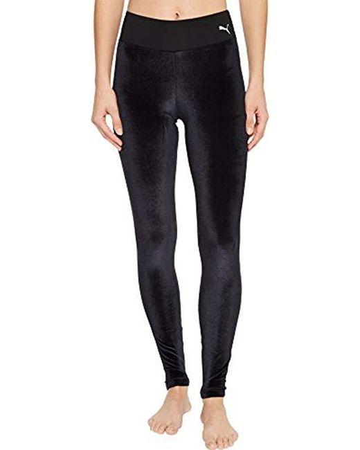 b0ca9210906e29 Lyst - PUMA Velvet Leggings in Black