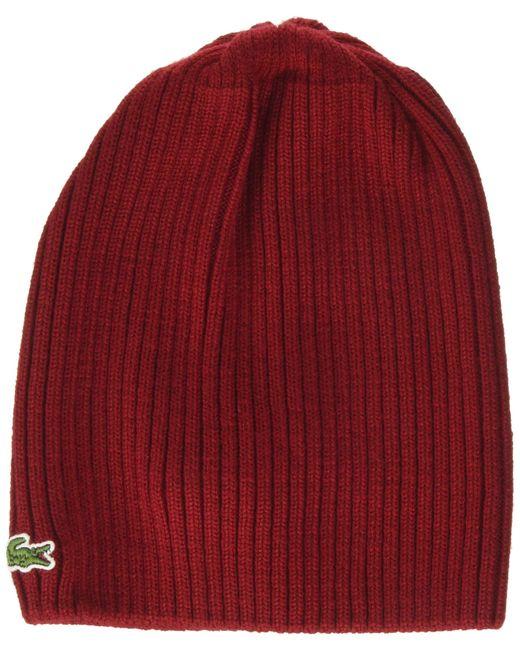 Rb3504 Cuffia di Lacoste in Red da Uomo