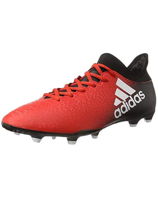Solar Red adidas X 16.3 Indoor Court Trainers Mens For Men
