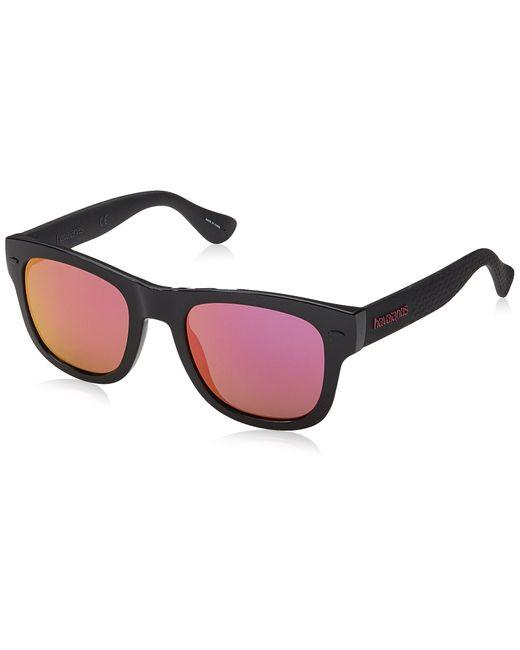 Havaianas Black Paraty Square Sunglasses