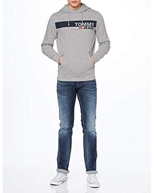 e6726d05 ... Tommy Hilfiger - Gray Essential Graphic Hoodie Sweatshirt for Men - Lyst  ...
