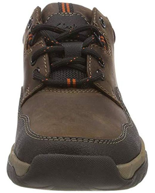 Clarks Walbeck Edge Ii Derbys in Brown (Brown Leather
