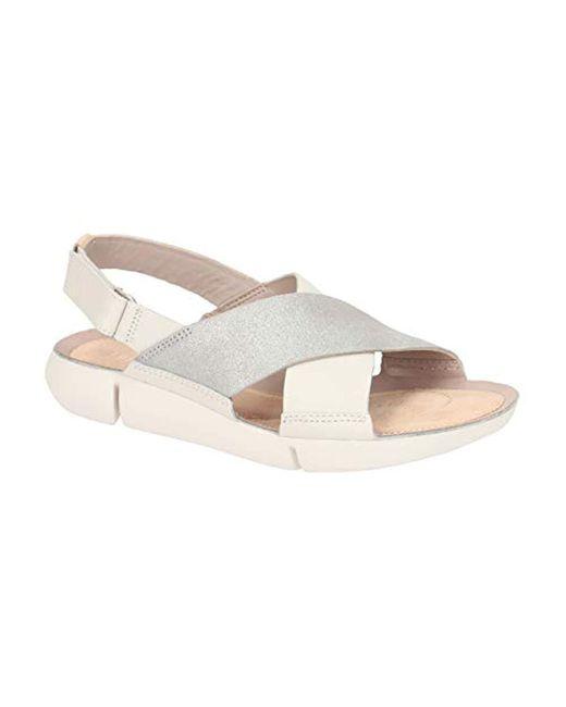 Clarks White Tri Chloe Sling Back Sandals