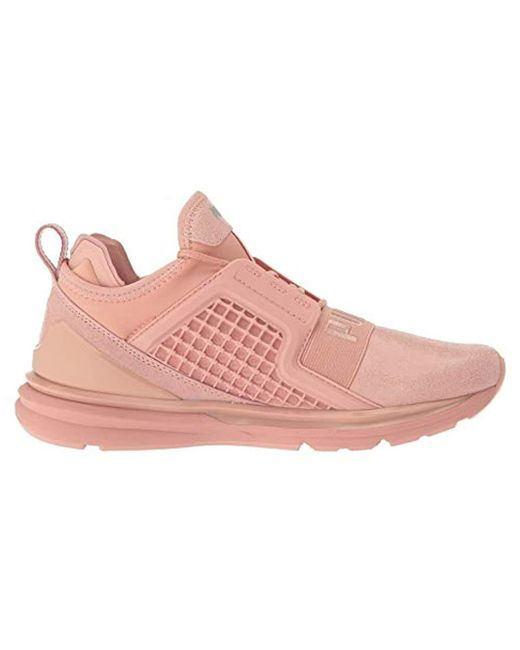 8bbe8382585 Lyst - PUMA Ignite Limitless Metallic Suede in Pink - Save 66%