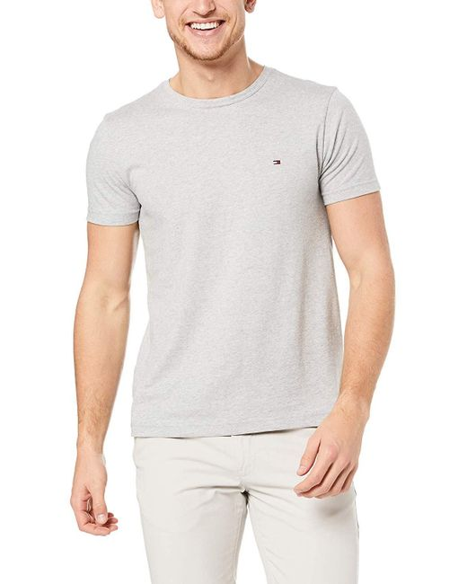 Tommy Hilfiger Gray Wcc Essential Cotton Tee Sports Shirt for men