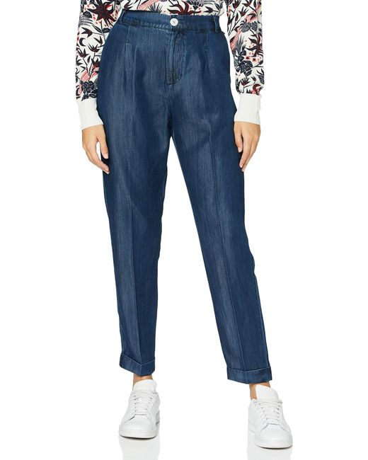 Chino Pant in Drapey Indigo Quality Pantaloni Casual di Scotch & Soda in Blue