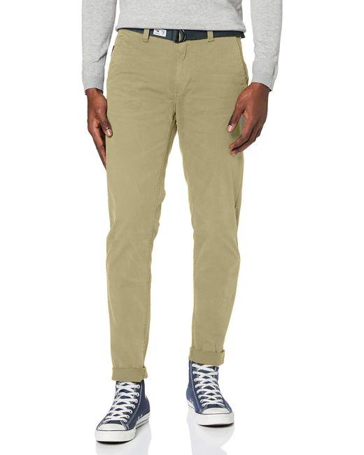 Tommy Hilfiger Green Tjm Tapered Belted Pant Trouser for men