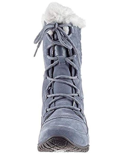 8ecc62f13 The North Face Nuptse Purna Ii Snow Boots in Gray - Lyst