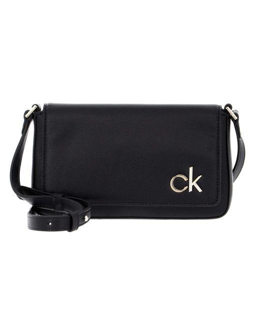 Calvin Klein Black Ew Flap Xbody