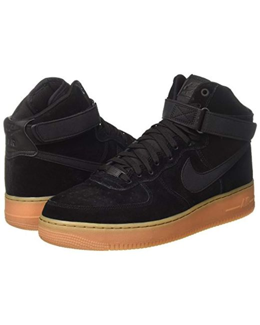 Shoes Black Force Lv8 Suede High Fitness '07 1 Men's Air bvYf7y6g