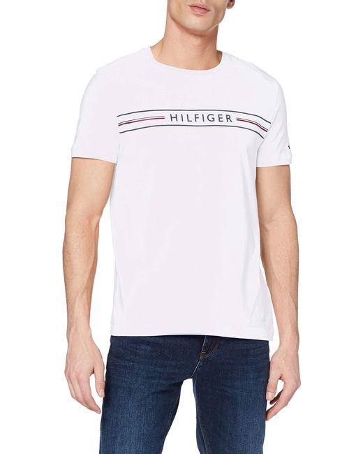Tommy Hilfiger White Corp Hilfiger Tee Sport Shirt for men