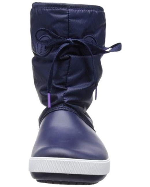 ... Crocs™ - Blue Crocband Ii.5 Lace Boot - Lyst ... 71698e7ad6e