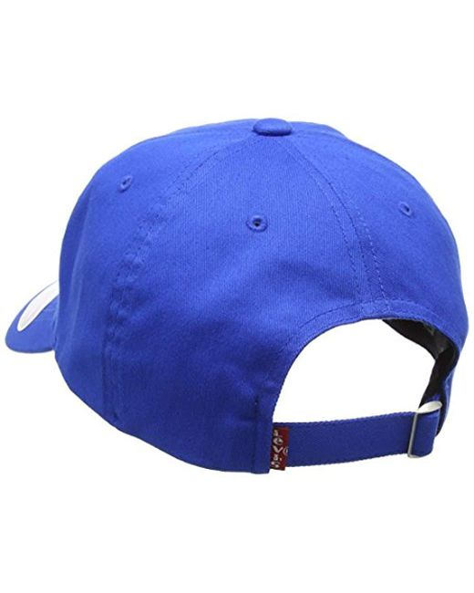 cbb9e3f93 Men's Blue Big Batwing Flex Fit Flat Cap