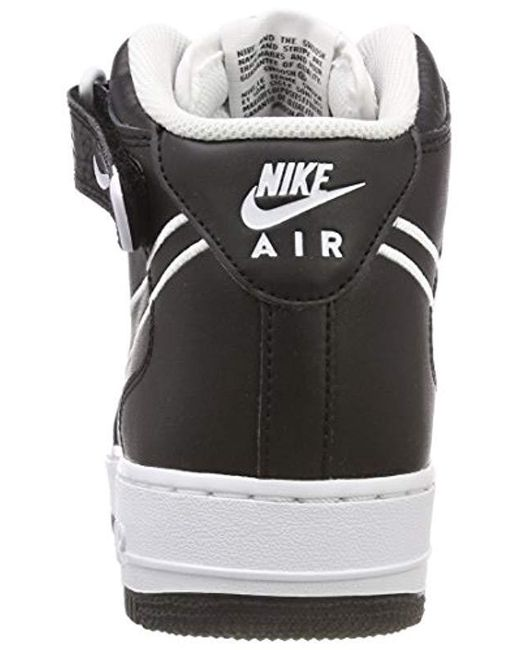 158af3bc403 ... Nike - Black Air Force 1 Mid  07 Leather Hi-top Trainers for Men ...