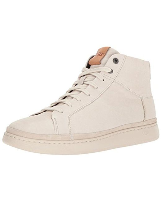 Ugg - Natural Cali Lace High Leather Sneaker for Men - Lyst