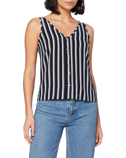 VMSASHA SL Button Top Noos Camicia di Vero Moda in Blue