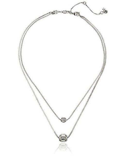 Kenneth Cole - Multicolor Delicates Faceted Stone Layered Double-pendant Necklace - Lyst