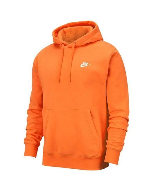 Felpa con cappuccio da uomo 837org/Wht di Nike in Orange da Uomo