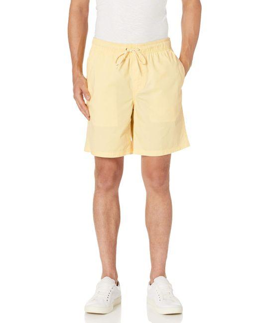 Pantalón Corto con Cordón de 23 Cm. Athletic-Shorts Amazon Essentials de hombre de color Yellow