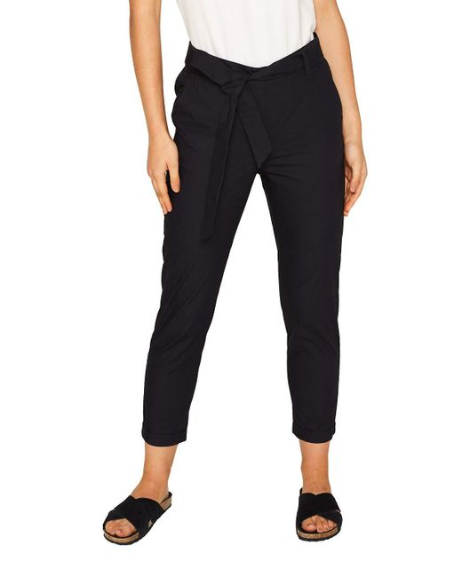 069ee1b019 Pantalones Esprit de color Black