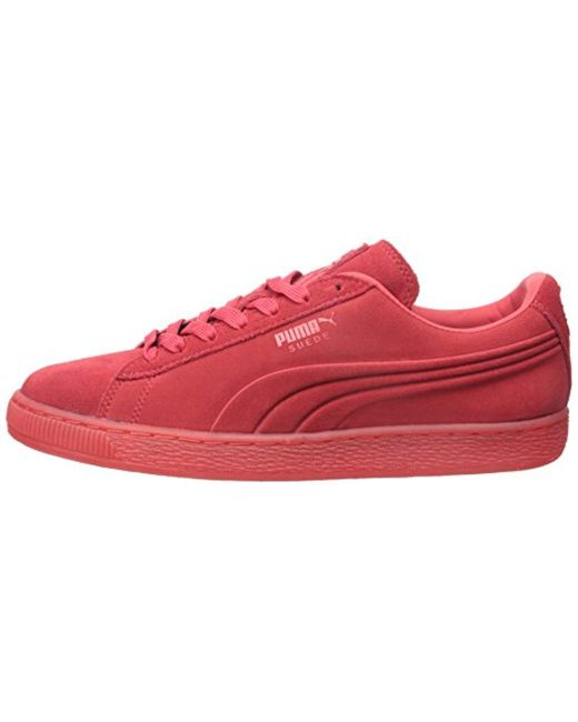 super populaire 71289 af291 PUMA Suede Emboss Iced Fashion Sneakers in Red for Men - Lyst
