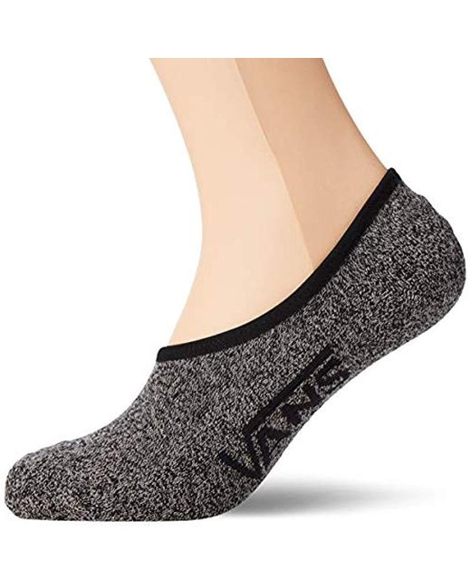 Vans Mn Classic Super No Show (9.5-13, 3pk) Socks, Black (black Heather Bhh), One Size (size:os) (pack Of 3) for men