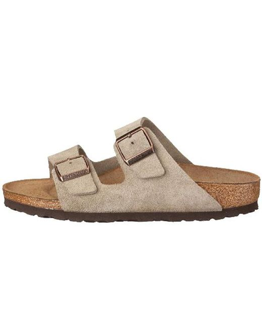 565943b9a92 ... Birkenstock - Gray Arizona Soft Footbed Leather Sandal - Lyst ...