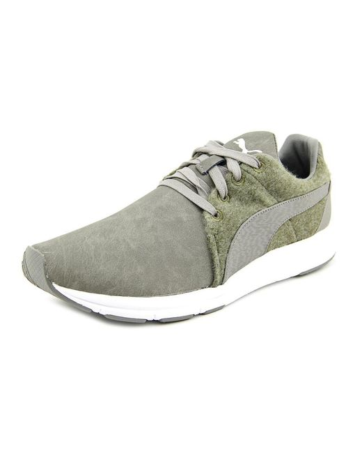 Haast Lace Running Shoes Color: Steel Grey/Burnt Olive/White PUMA ...