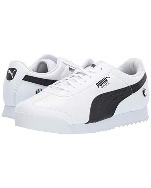 PUMA Leather Bmw Roma Sneaker in White for Men Save 14% Lyst