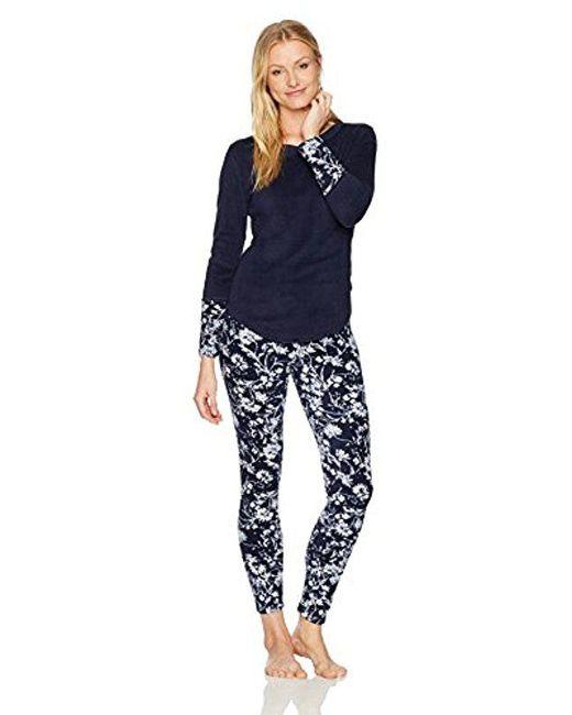 Lucky Brand - Blue Printed Microfleece Pajama Set - Lyst