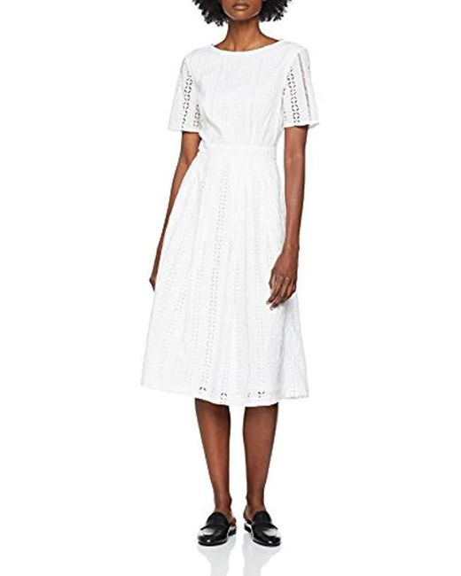 Great Plains - White Betsy Broidery Midi Dress - Lyst