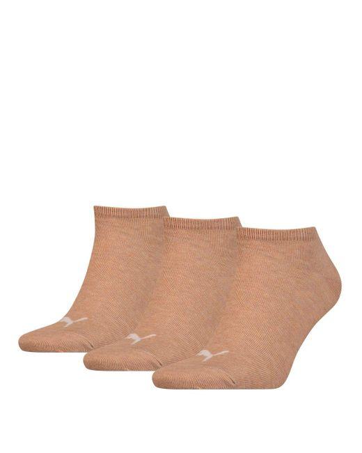 , calzini sportivi unisex, confezione da 3 050 – Beige mélange 39-42 di PUMA in Natural
