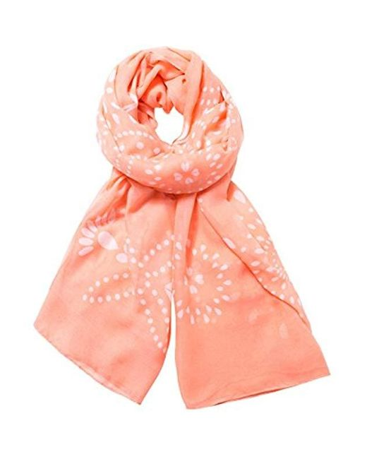 Desigual Foulard_rectangle Vanesa Scarf, Pink (rosa Lovely 3060), One Size