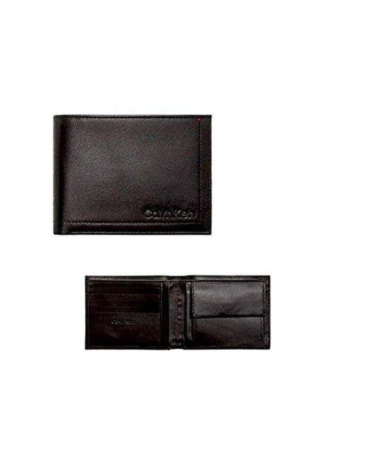 fdfa33ccd5 Calvin Klein Smooth Essential5cc Coin Wallet in Black for Men - Lyst