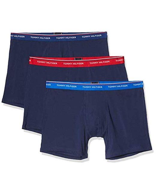 Boxer (Lot de 3) Tommy Hilfiger pour homme en coloris Blue