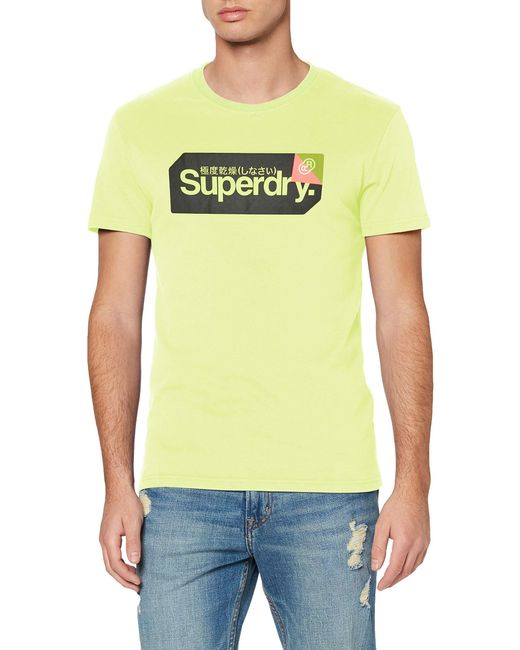 Core Logo Tag Tee T-Shirt Superdry pour homme en coloris Yellow