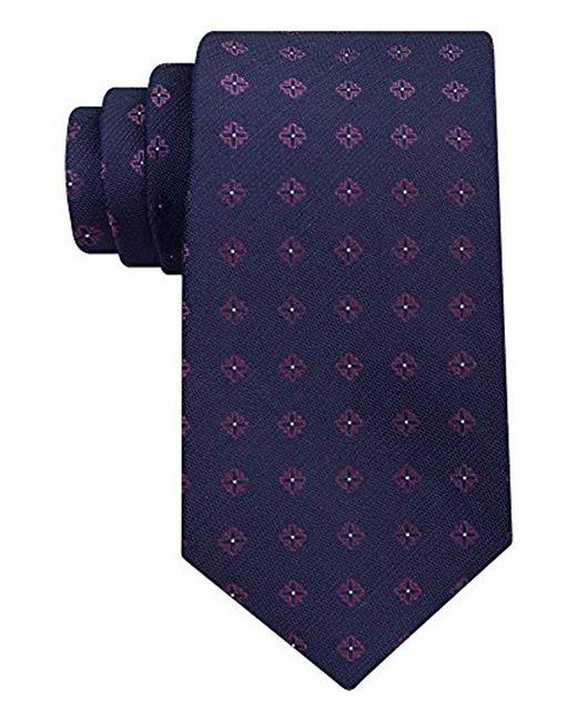 Calvin Klein - Blue Cross Medallion Tie for Men - Lyst